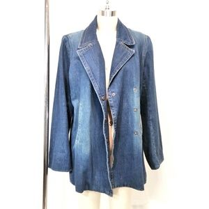 VTG Willie Smith Denim Jean Jacket Double Breasted
